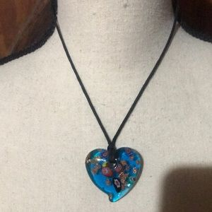 Awesome necklace glass heart